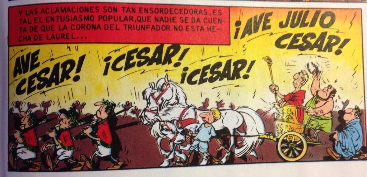 Los laureles del César. René Goscinny y Albert Uderzo.