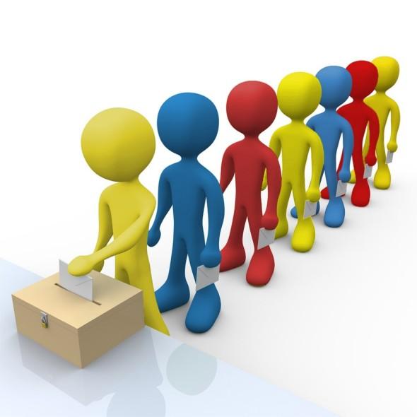 Monigotes votando completa